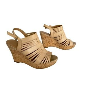 👗Franco Sarto Leather Sharp Wedge Sandal 9.5